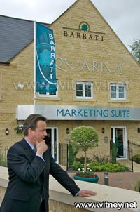 David Cameron opens affordable housing development
