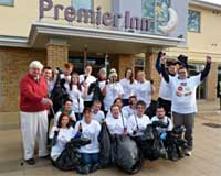 Hotel staff go litter picking