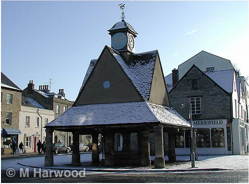 The Buttercross, Witney in the snow