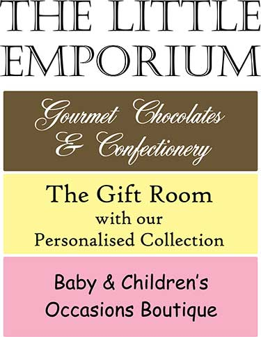 The Little Emporium, gourmet chocolate shop, jewellery, baby gifts and clothing for children