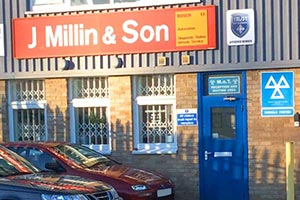 Businesses in Witney, including J Millin & Son, Witney garage services